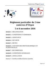 Fichier PDF reglement particulier du 1er canicross d orgon