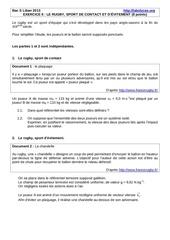 2013 liban exo2 sujet rugby qtemvt chppesanteur 8pts