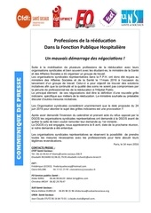 cp 19 professions de reeducation un mauvais demarrage des negociations pub