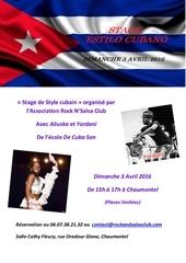 flyer estilo cubano