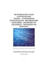 Fichier PDF professeur benzine rachid cours optimisation sans contraintes tome1