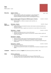 resume reddit version