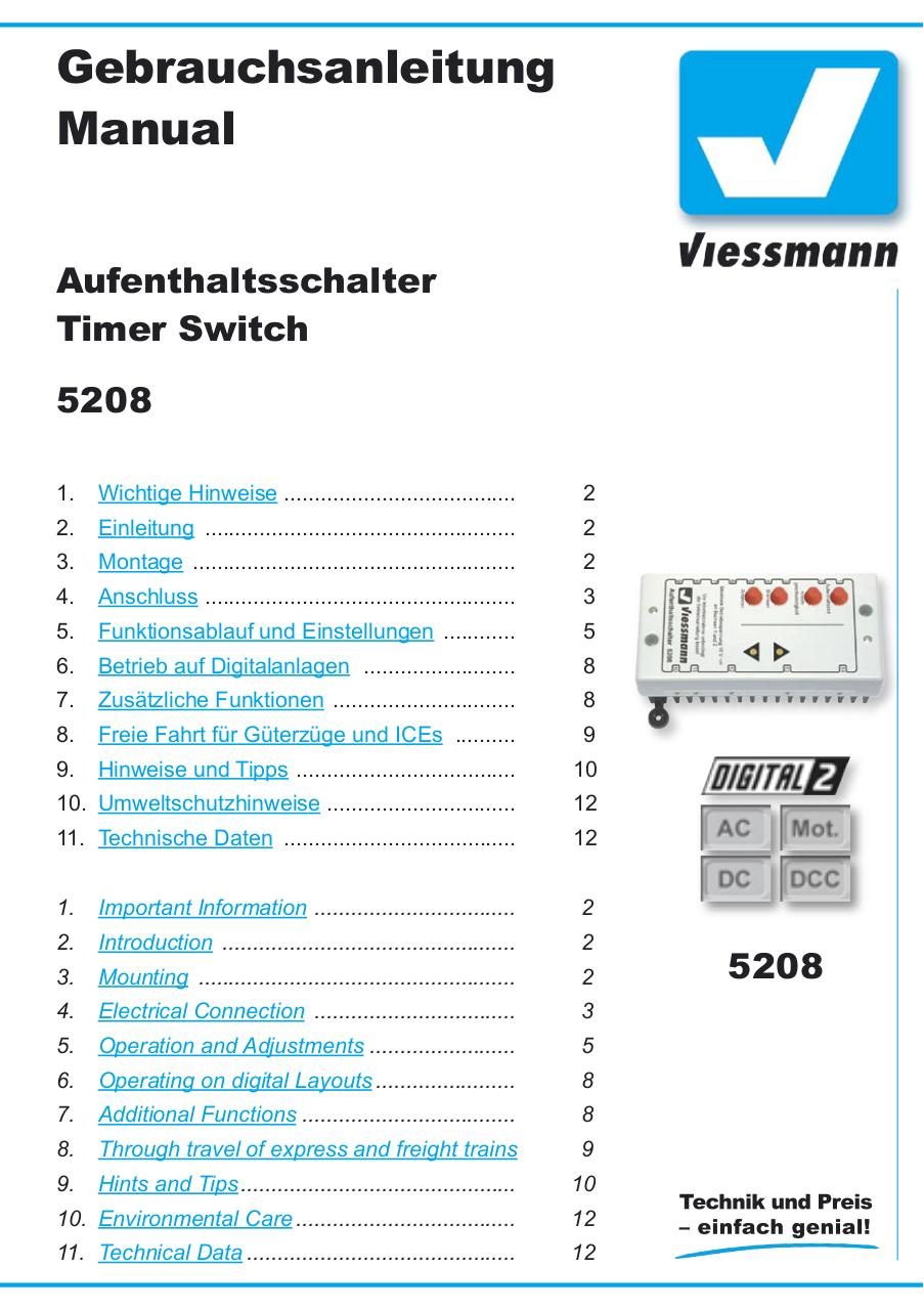viessmann module d arret 5208-01-DE, GB - Fichier PDF