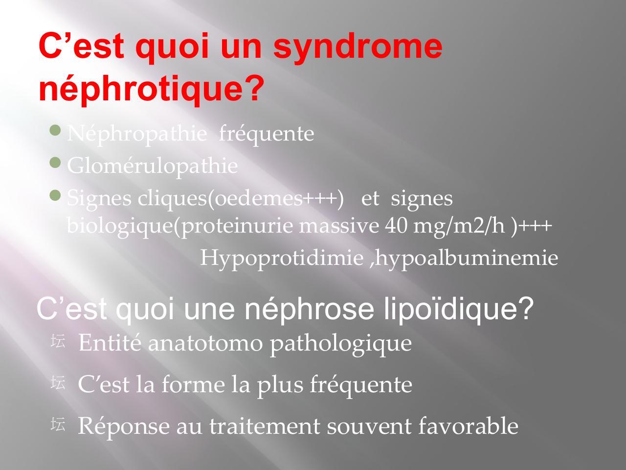 Syndrome Nephrotique Pdf