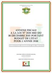 annexe fiscale 2016 cote d ivoire