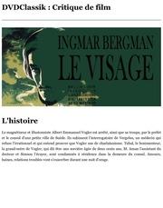 le visage de ingmar bergman 1958 dvdclassik