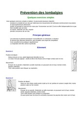 Lombalgies Conseils par acer - prevention des lombalgies pdf ...
