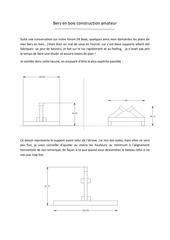 bers en bois construction amateur