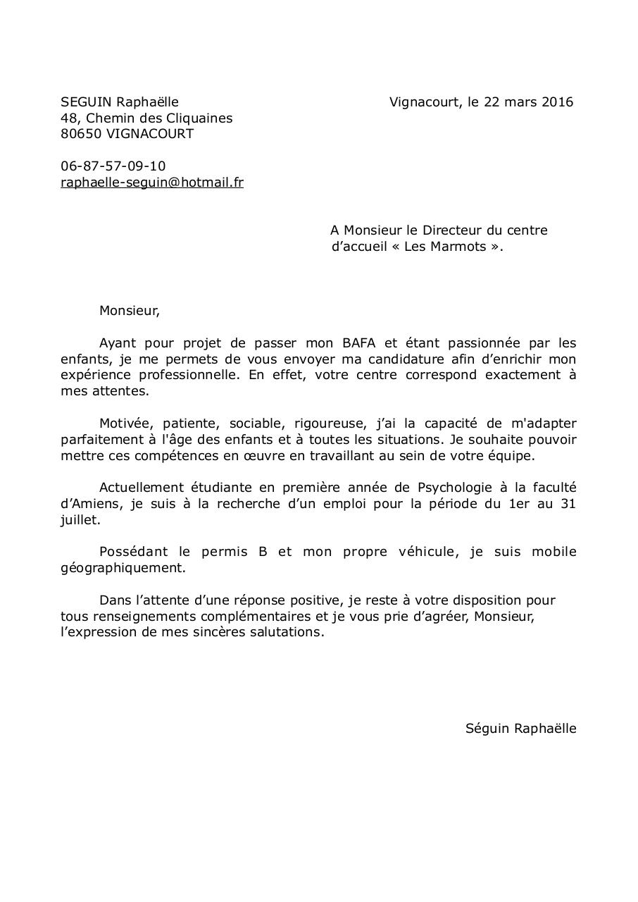 lettre de motivation - lettre de motivation pdf - page 1  2