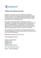 Fichier PDF babelyou film offering internship