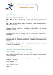 programme de la journee 1