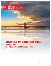 rias logistics information note draft