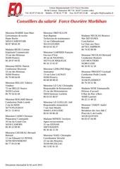 2015 liste conseillers du salarie force ouvriere