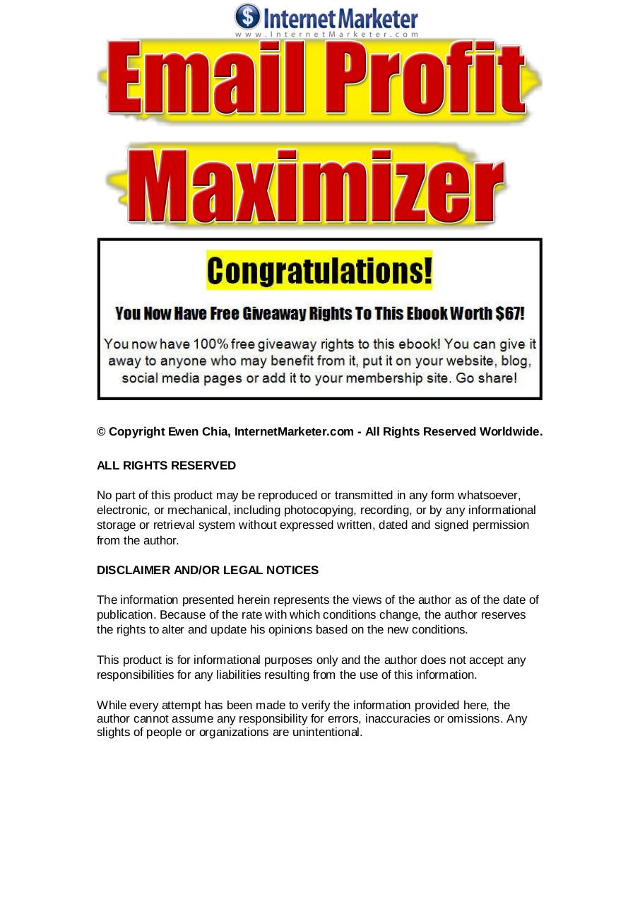 EmailProfitMaximizer.pdf - page 1/10