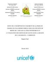sieleunou gratuite paiement direct paludisme enfant cm 2013