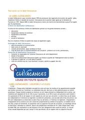 infos label clevacances