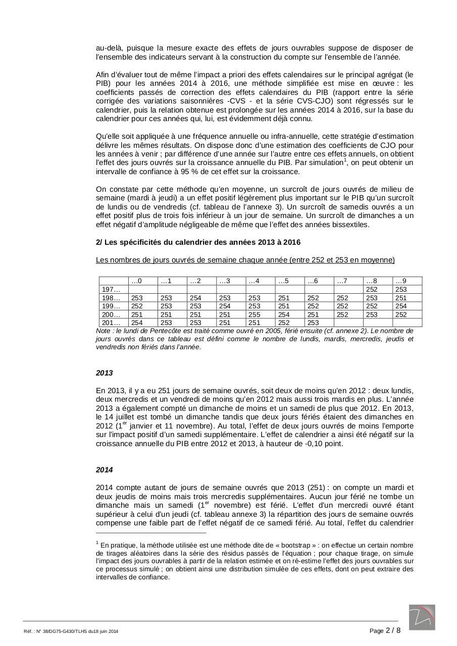 38g430 Correction Jo 2013 2016 Par Oflcrr Annee Bisextille Insee