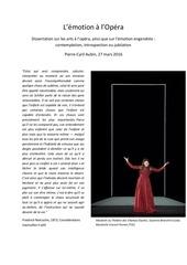 dissertation l emotion a l opera