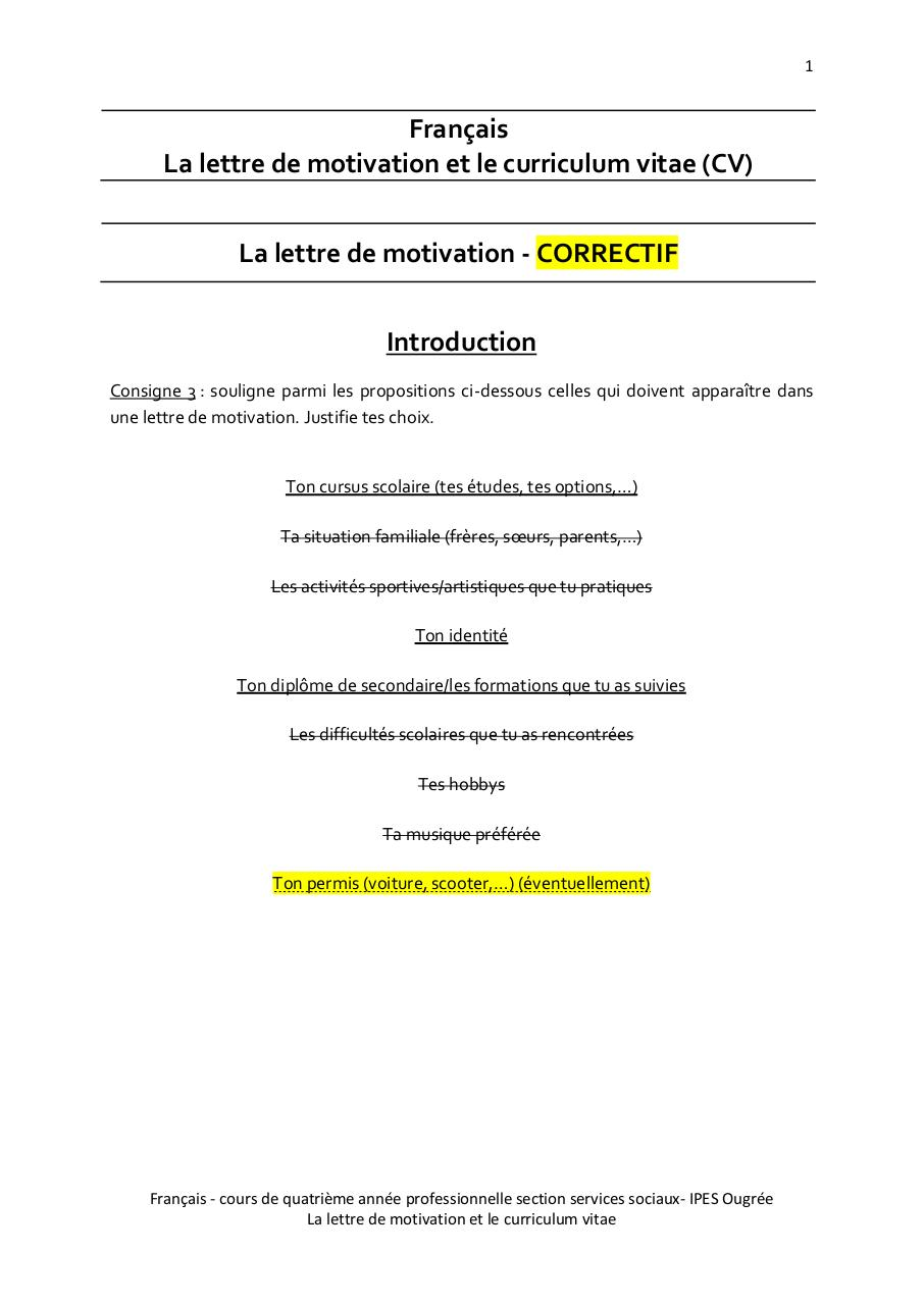 lettre de motivation manuscrite pdf