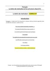 francais la lettre de motivation et le cv correctif 1