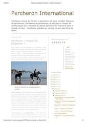percheron international percheron postier ou diligencier fusion 2 articles