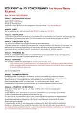 reglement jeu nivea heures bleues avril 2016