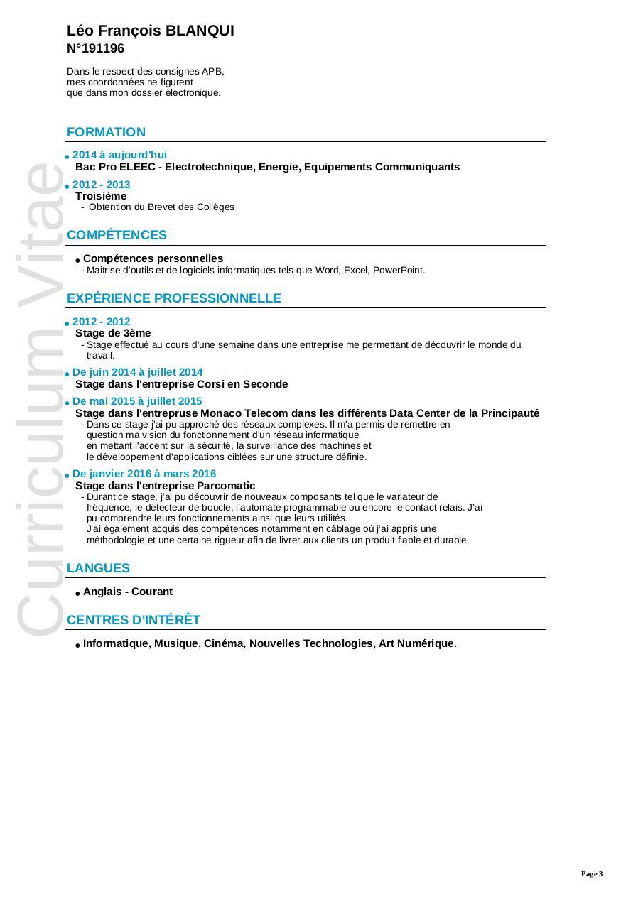 fiche de candidature   191196 par admission postbac - dut geii toulon pdf