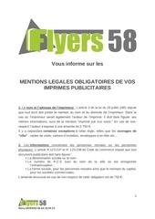 Fichier PDF infos mentions legales
