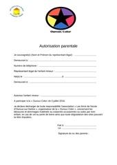 Fichier PDF autorisation parentale