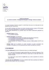 guide du participant ccb