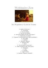 Fichier PDF les 18 points de la trame webinaire zen