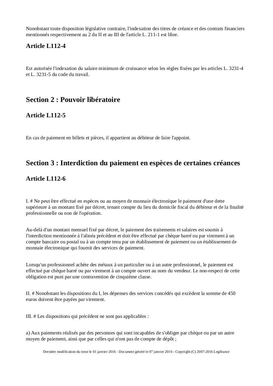 Code Monetaire Et Financier 2016 Fichier Pdf