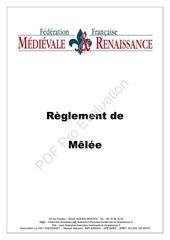 m r reglement de melee