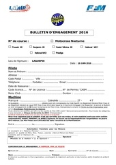 bulletin d engagement pilote