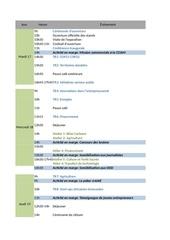 calendrier du forum 1