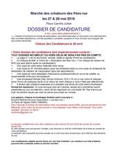 dossier candidature marche e fe es rue mai 2016