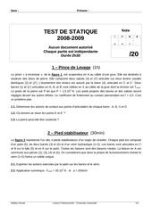 test statique 2008 2009 sujet
