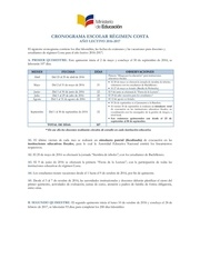 cronograma escolar costa 2016 2017 versi n final rev aprobado
