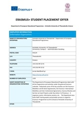 department of european educational programmes