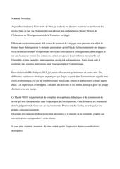 Fichier PDF lettre de motivation