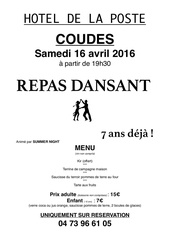 repas dansant 16 avril
