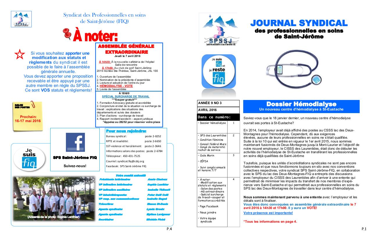 Aperçu du document PDF journal syndical mars 2016.pdf - page 1/2