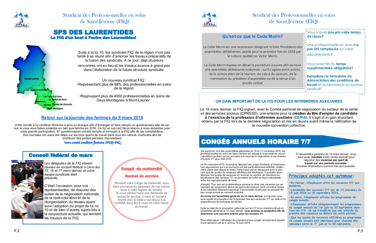 Aperçu du document PDF journal syndical mars 2016.pdf - page 2/2
