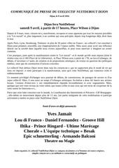 communiquE de presse du collectif nuitdebout dijon