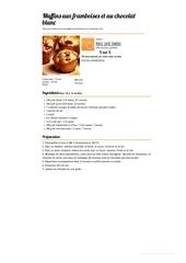 Fichier PDF muffins aux framboises et au chocolat blanc