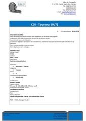 Fichier PDF offre tourneur