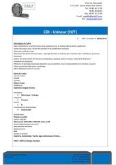Fichier PDF offre usineur