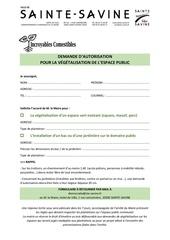 formulaire demande autorisation vegetalisation