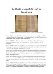 la bible plagiat de mythes sumeriens