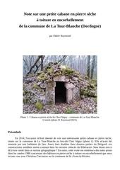 cabane en pierre seche la tour blanche dordogne d raymond